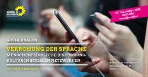 Verrohung der Sprache - menschenfeindlichle Disskussionskultur in sozialen Netzwerken @ frei.raum am Bismarkplatz